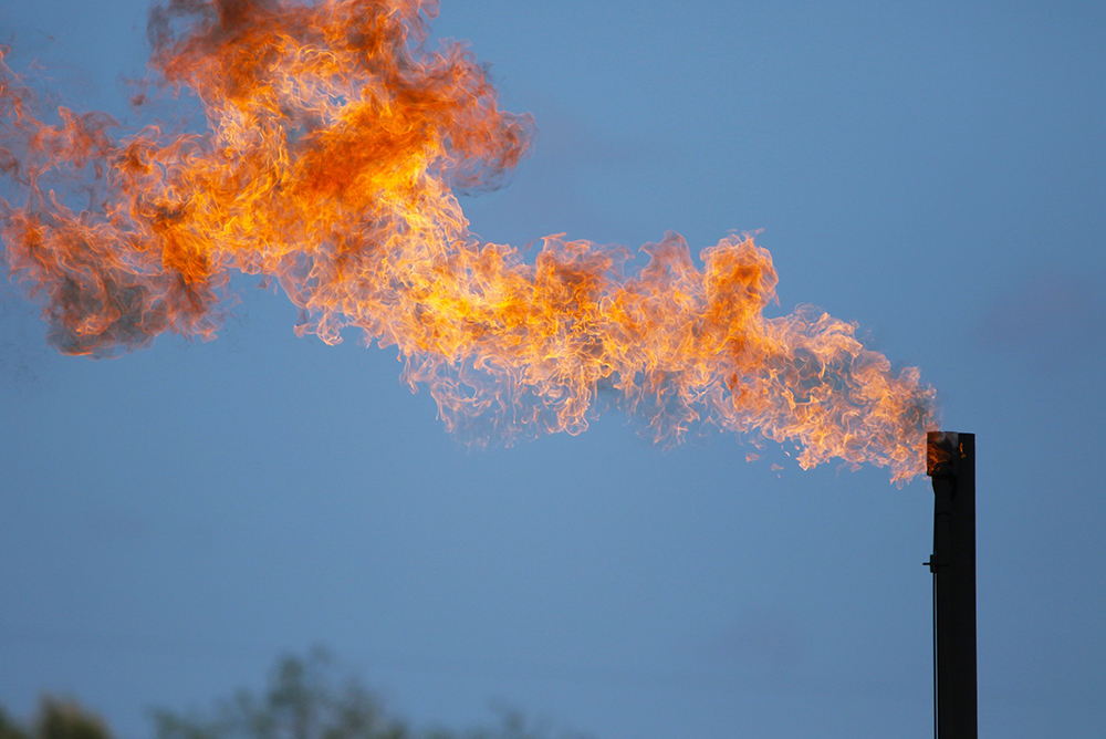 Flaring (burning off unused natural gas)