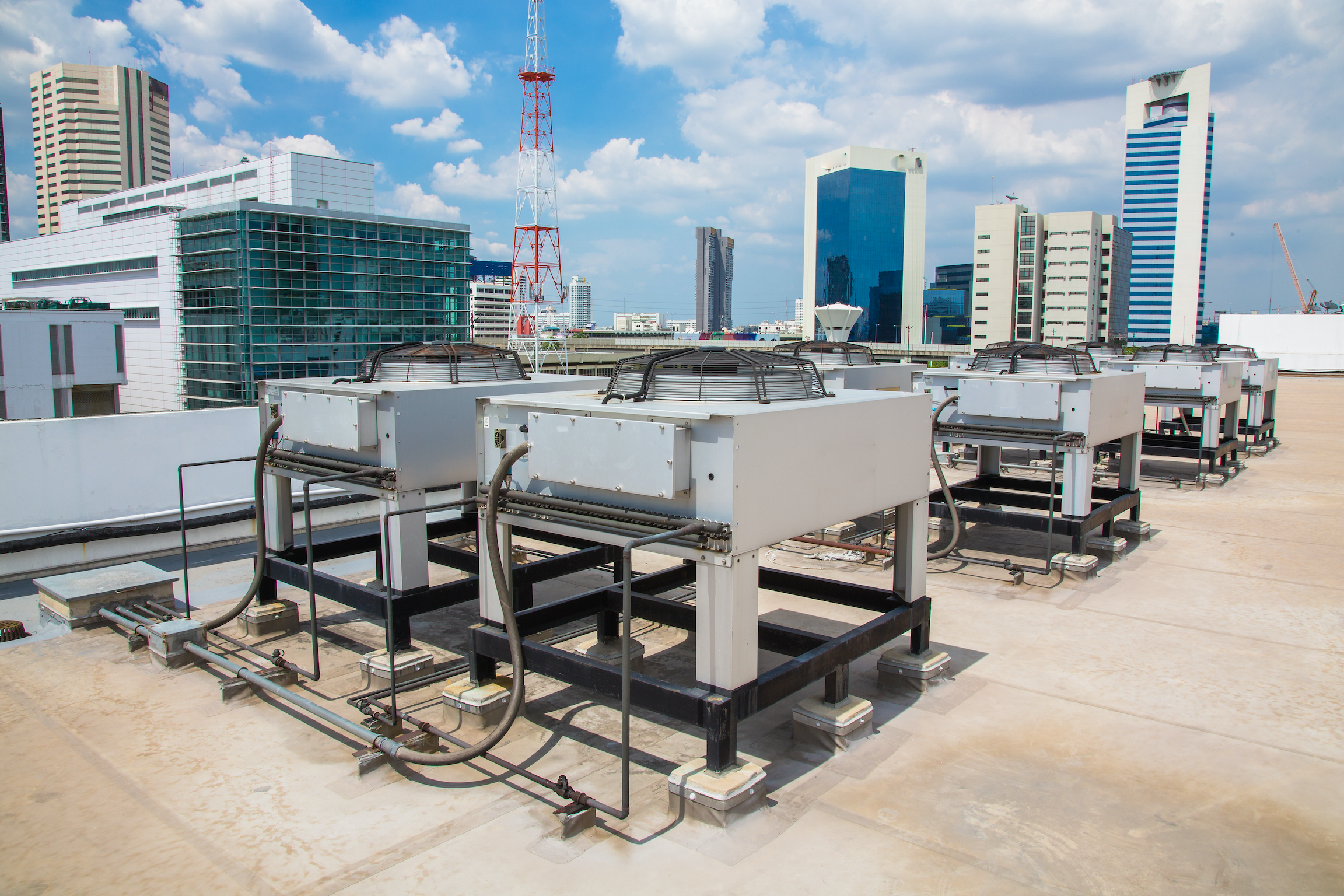 HVAC equipment on an office building