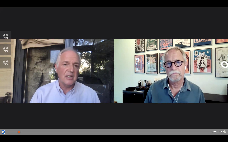 Screenshot of webcast with Paul Polman and Joel Makower