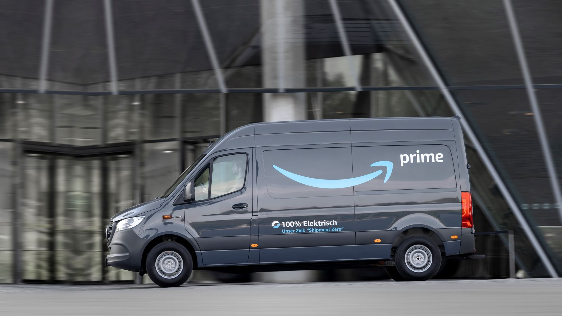 Mercedes-Benz electric Sprinter van for Amazon