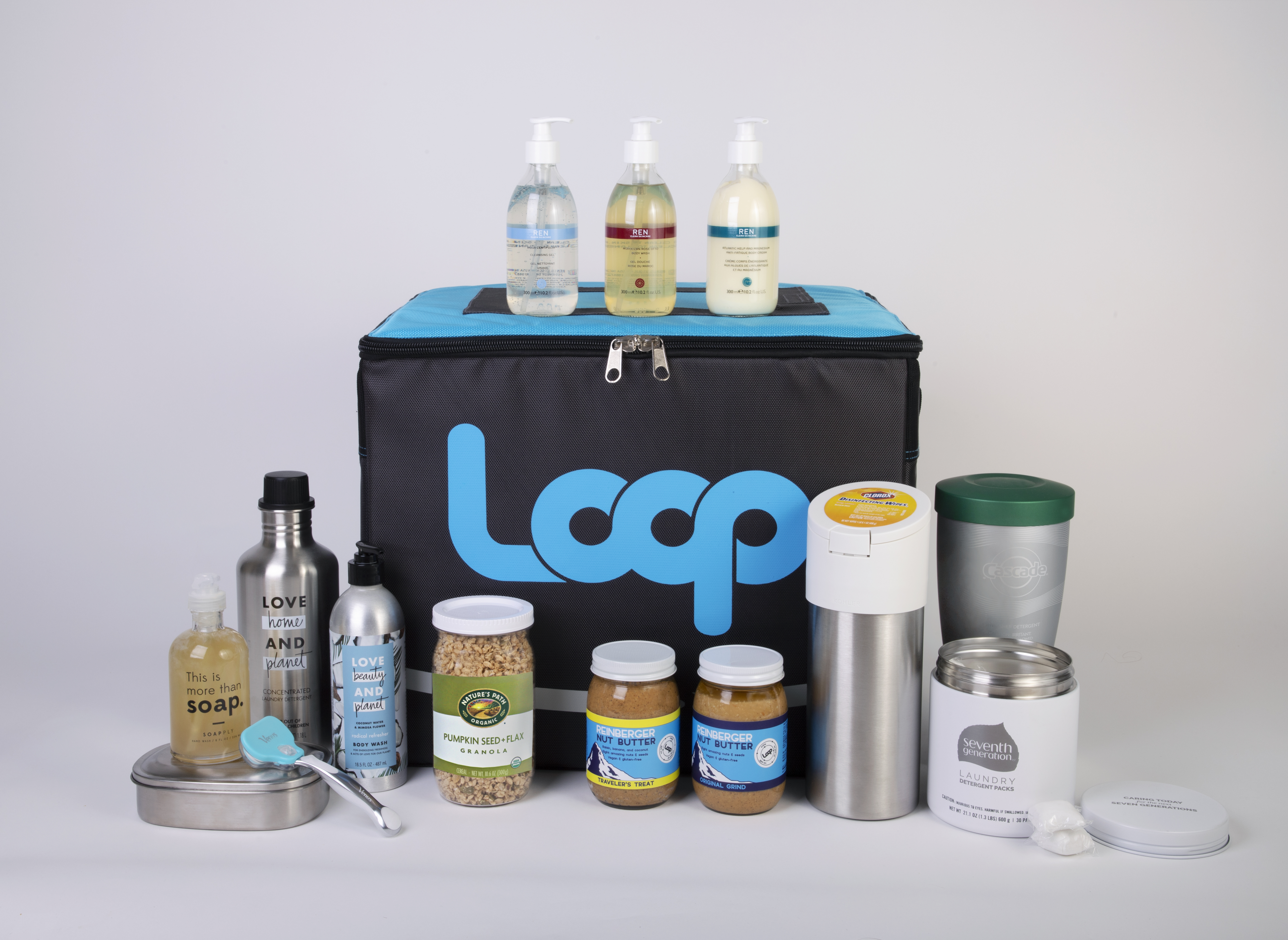 una selección de paquetes recargables Loop
