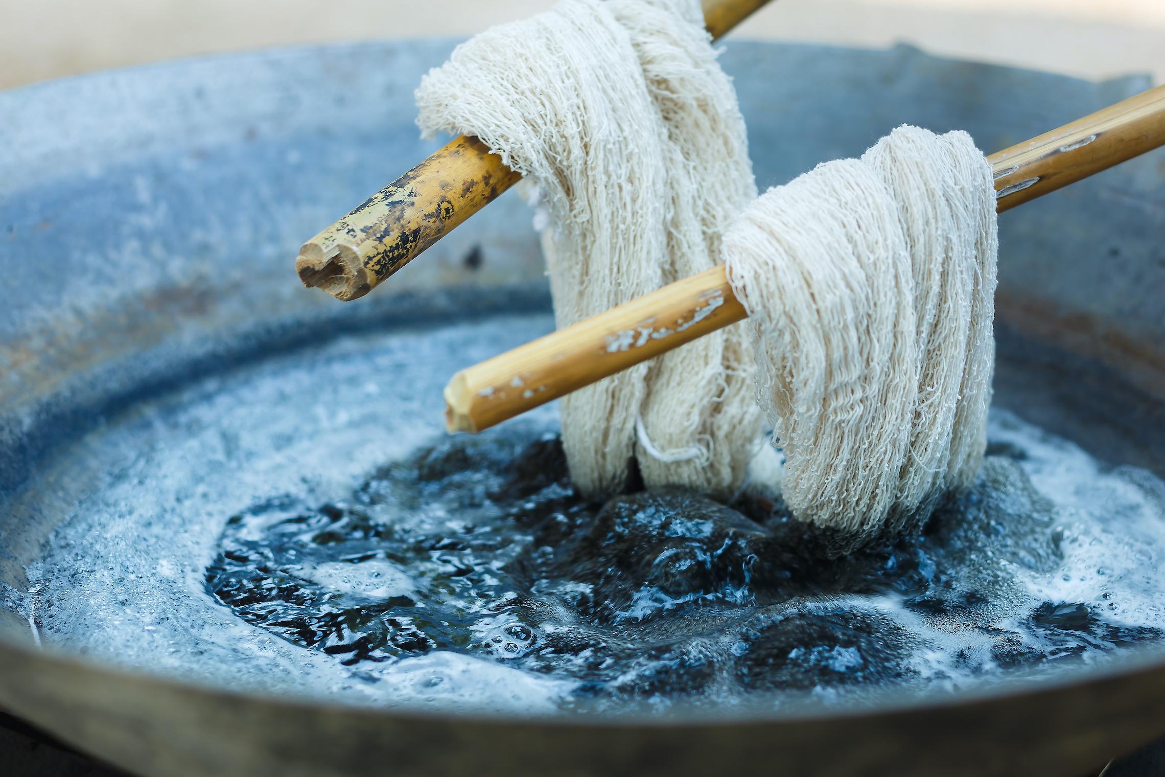 The cotton dye process