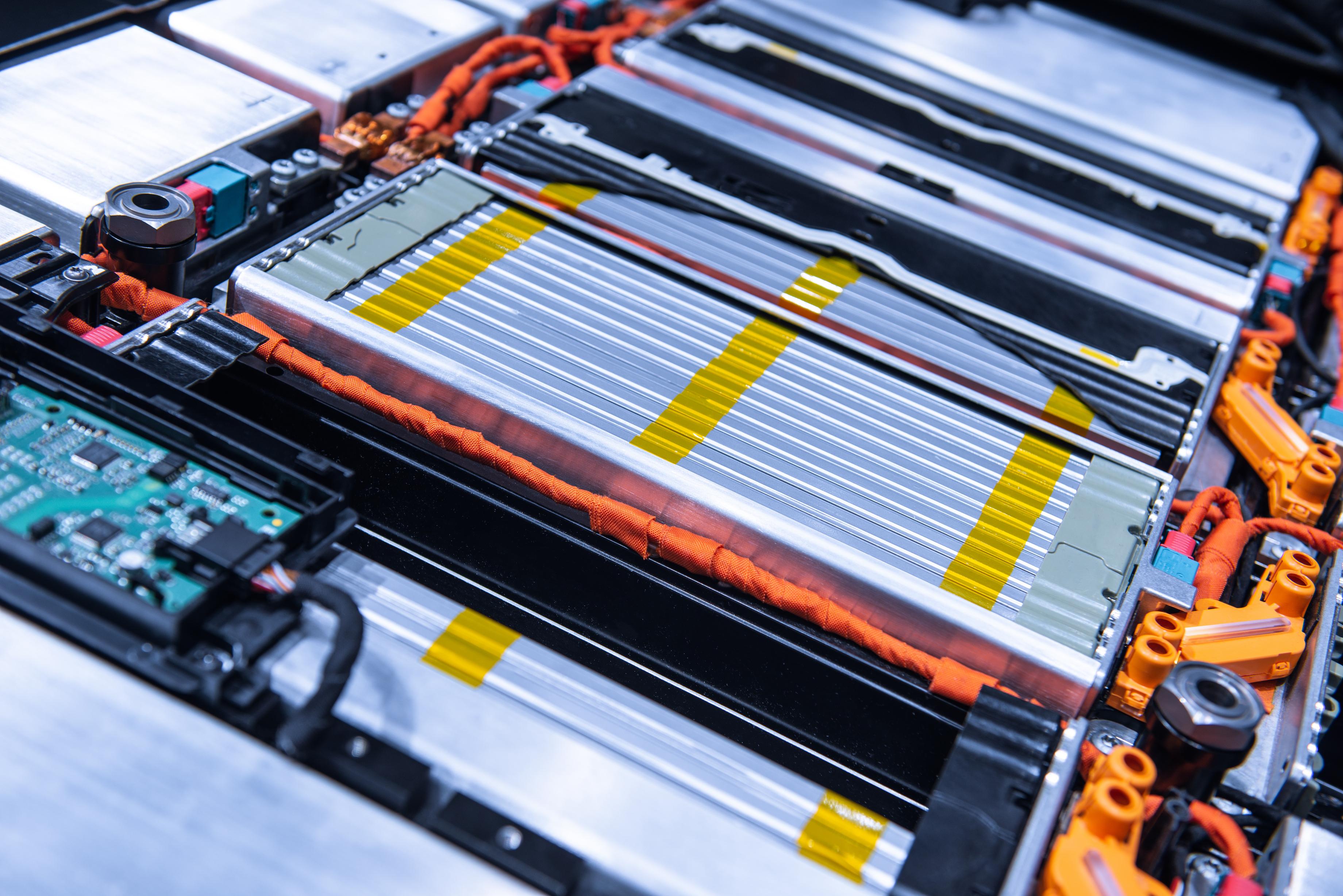 An EV battery cross-section