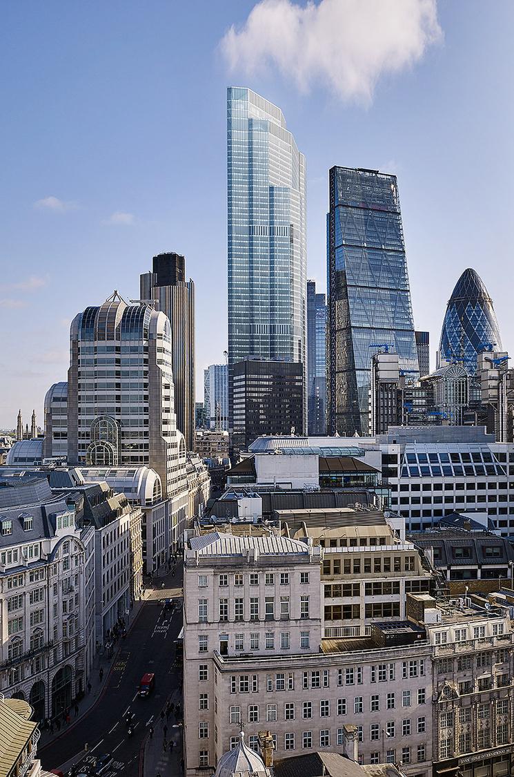 Skyline shot of buildings