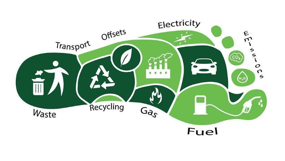 Carbon footprint depiction