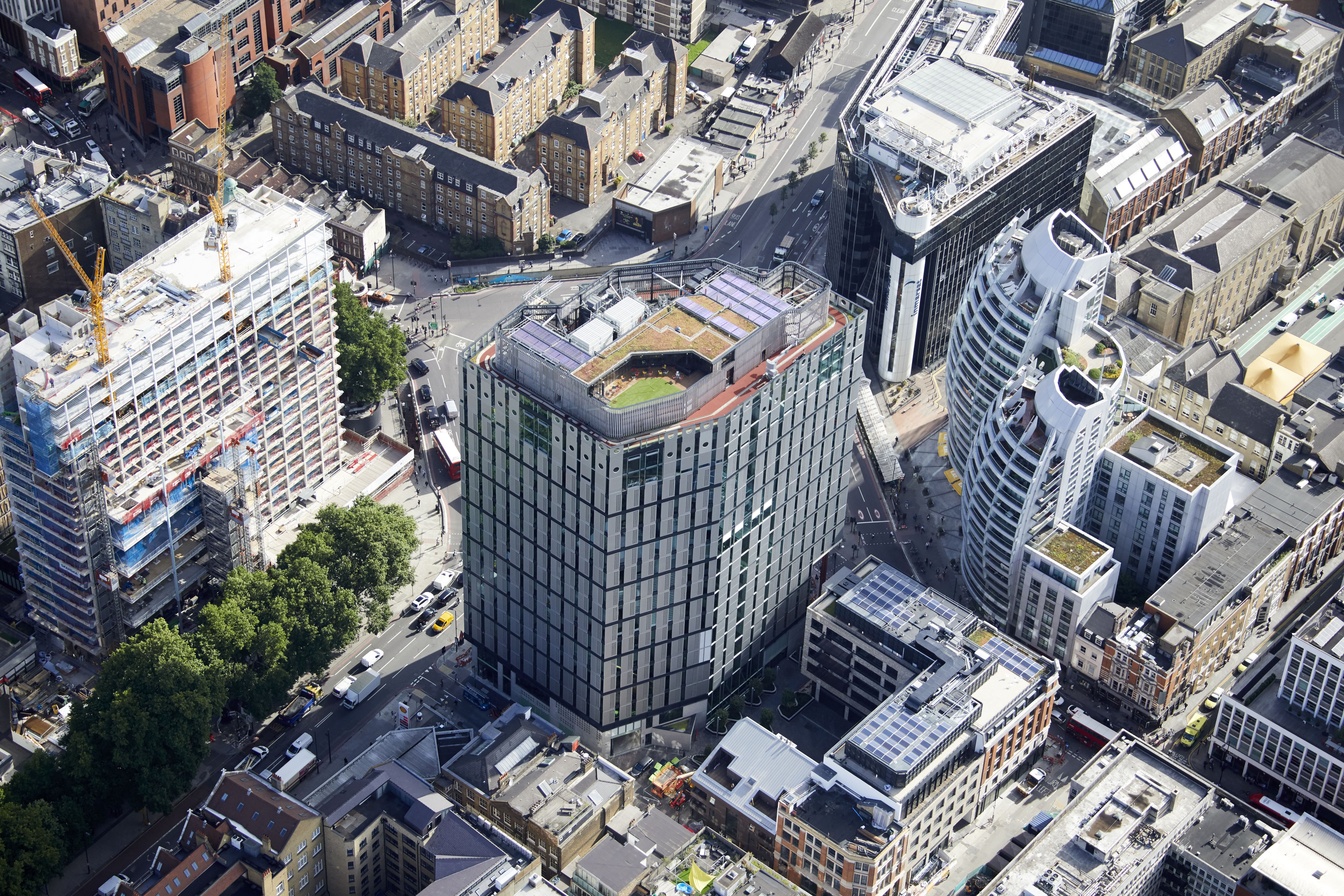 Building aerial shot