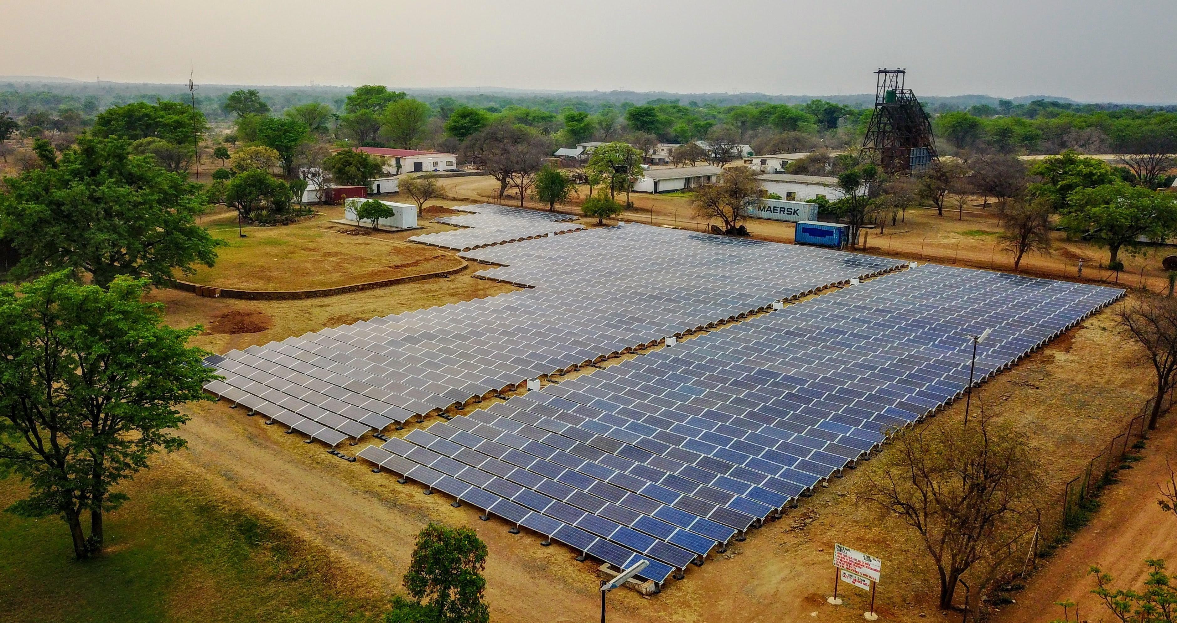 Solar panels in Zimbabwe