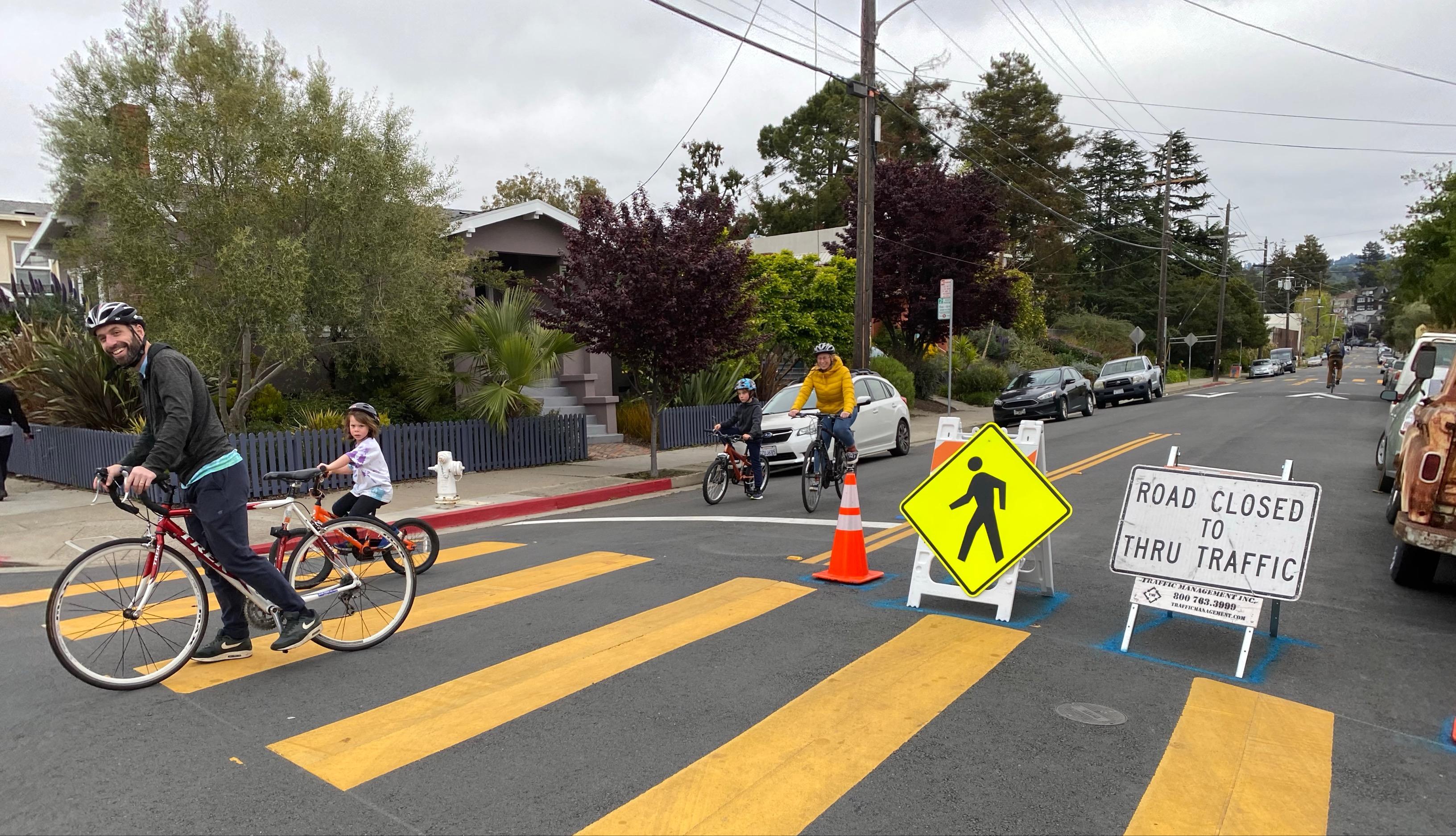 A slow street scene from Oakland, California