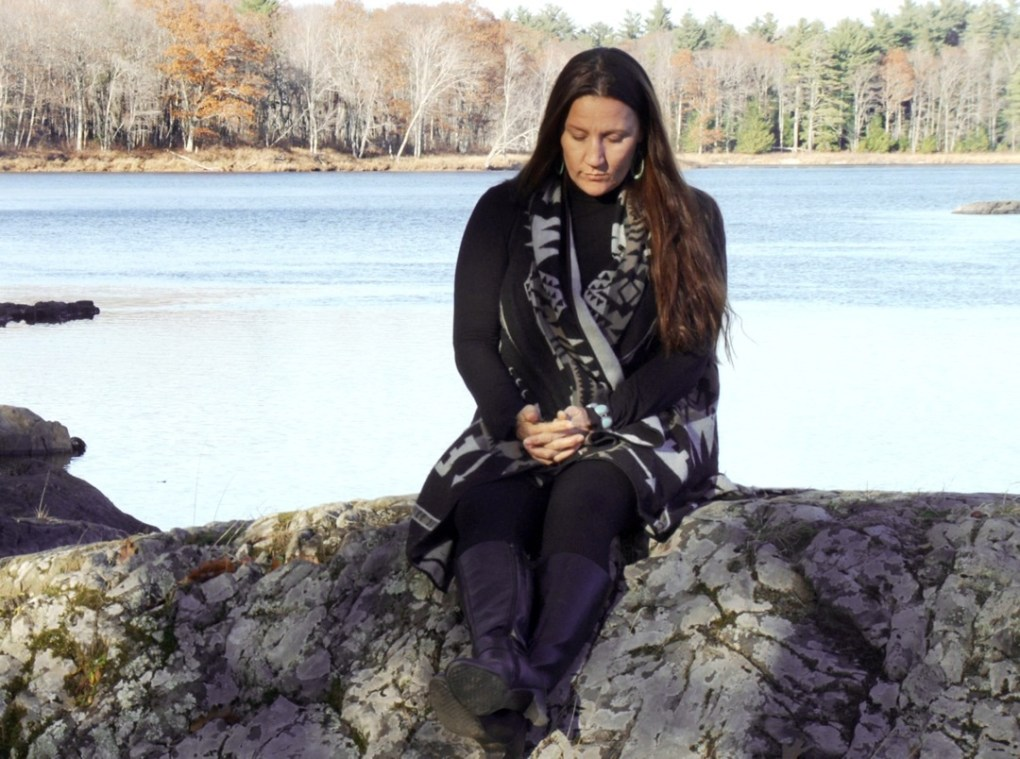 Sherri Mitchell, Indigenous educator, by the river