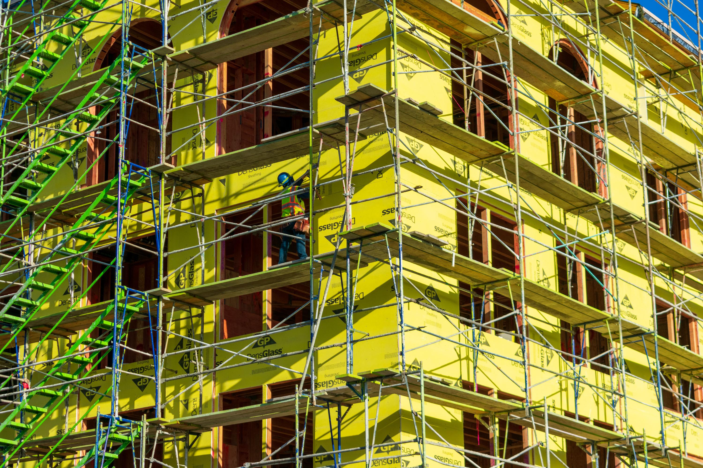 Multifamily housing under construction
