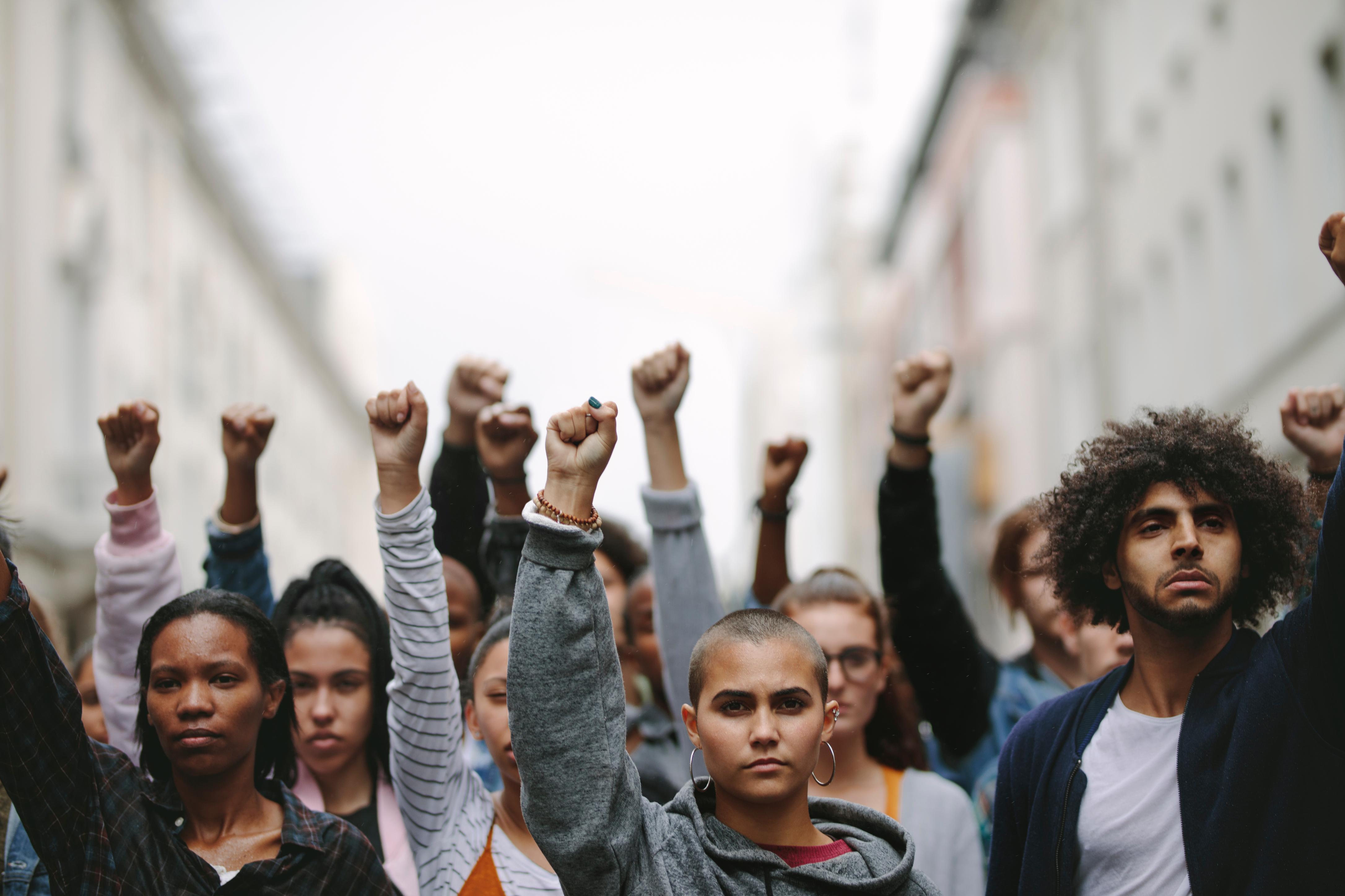 Protestors for social justice