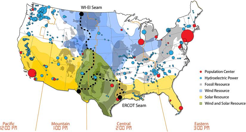 U.S. grid interconnect illustration