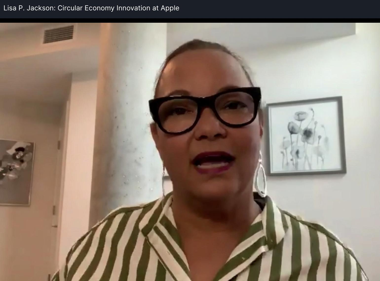 Lisa Jackson, Apple's sustainability chief, at Circularity 21