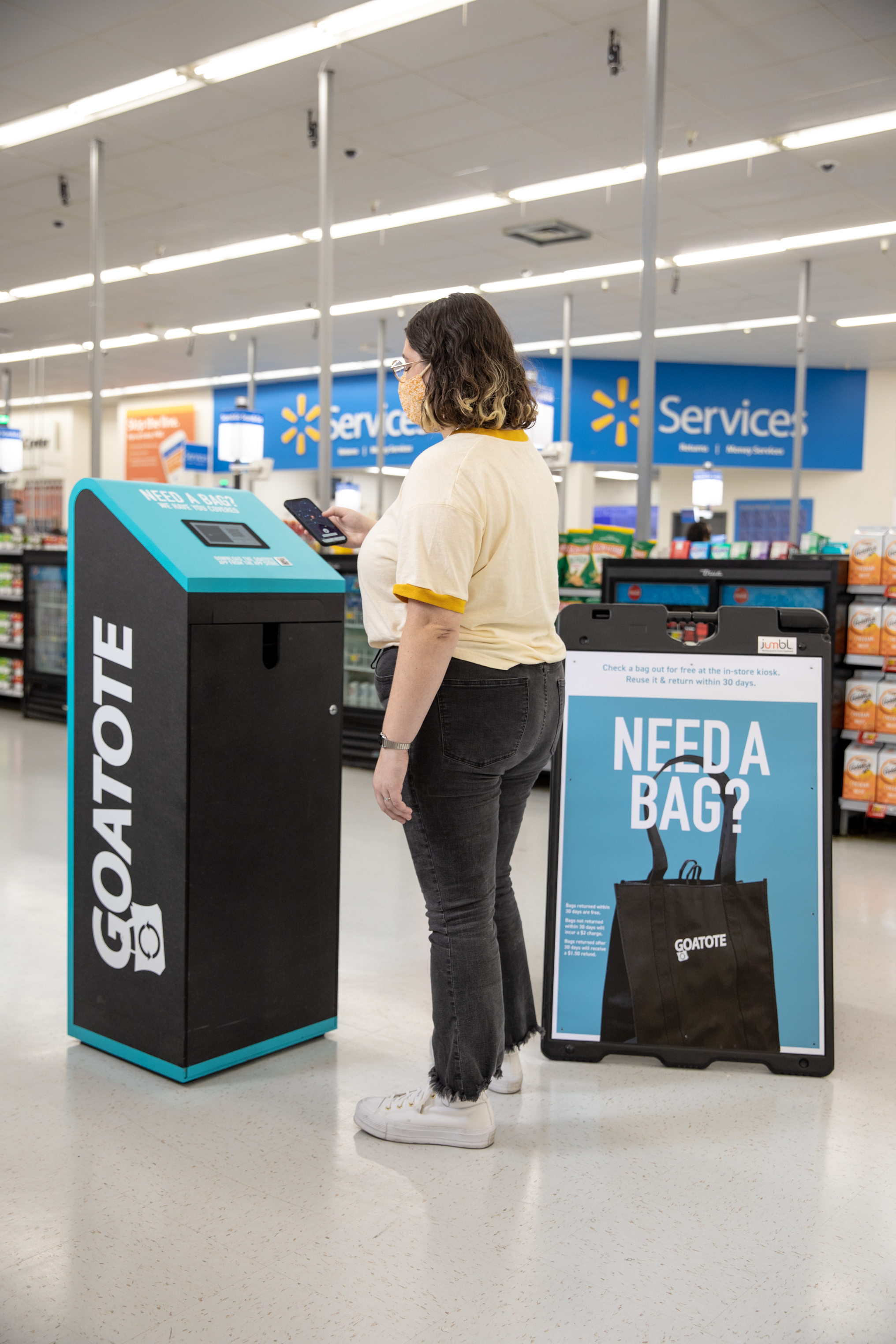 GOATOTE kiosk in Walmart store