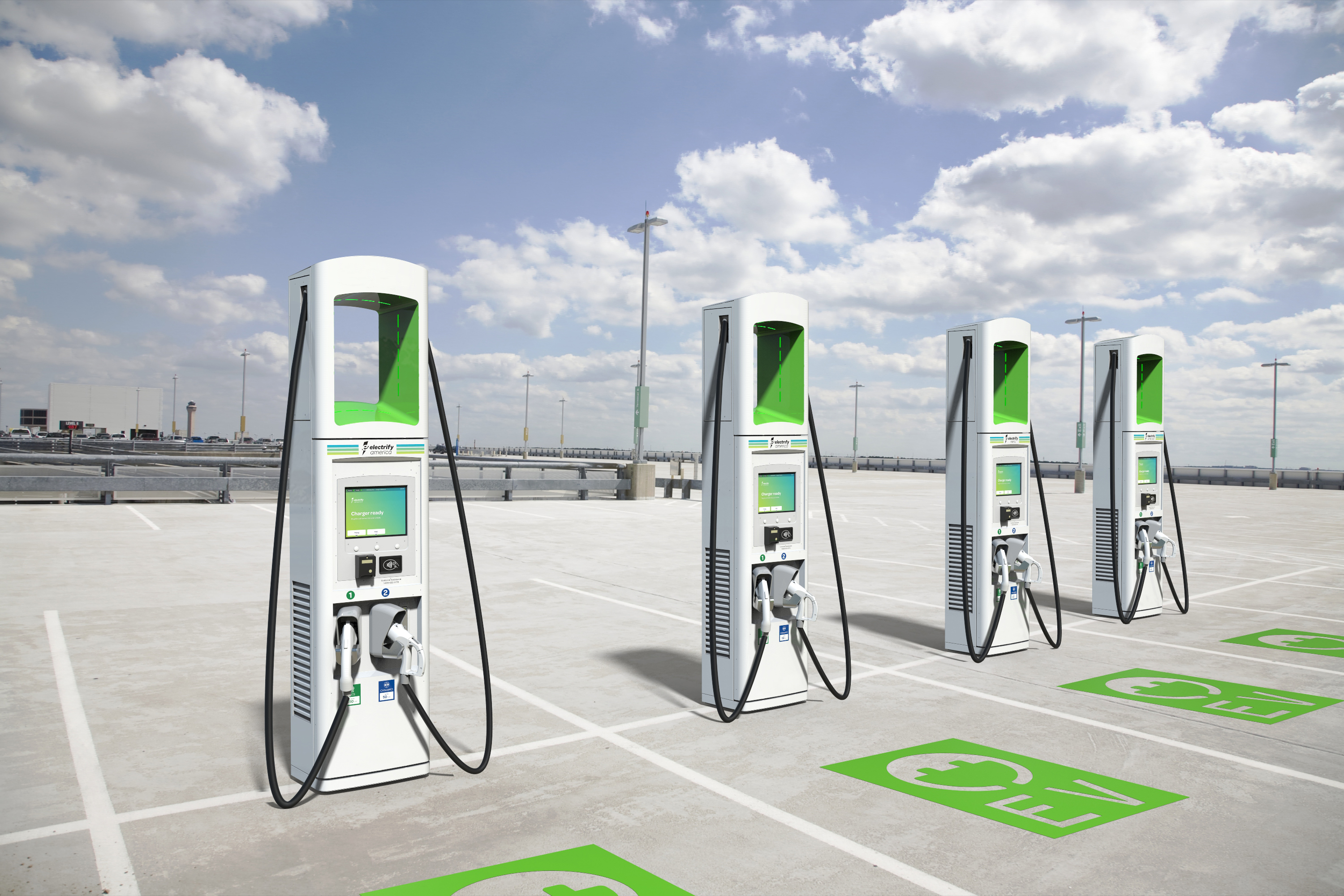 Electrify America chargers by BTC Power.
