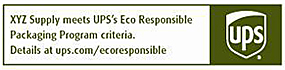 UPS Eco Responsible Label