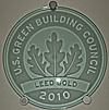 Coyote Ridge's LEED-Gold plaque