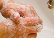 Soapy hands by Arlington County