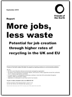More jobs, less waste report cover
