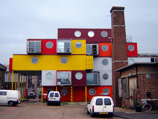 ... Made Of Shipping Containers.) Photo CC Licensed By Fin Fahey