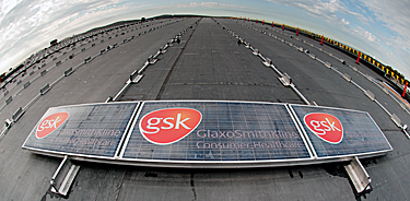 On the rooftop of GSK's Northeast Regional Distribution Center in York, Pa.