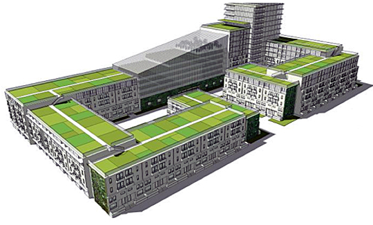 A vision of urban and vertical farming.