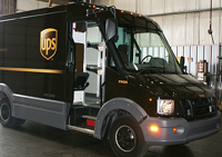 The UPS ABS plastic ligjhtweight delivery van.