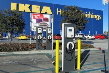 IKEA also is installing EV charging stations at nine stores.
