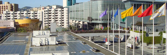 Moscone Center's South Lobby solar system--embedded