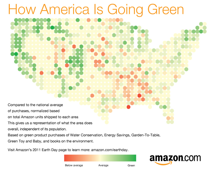 How America is Going Green map
