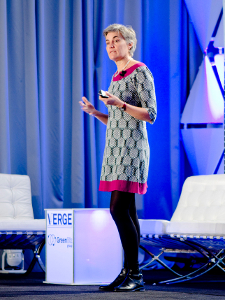 Robin Chase, CEO of Buzzcar and founder of Zipcar, speaks at GreenBiz's VERGE DC.