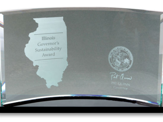 Illinois Governor's Sustainability Award image courtesy of ITSC