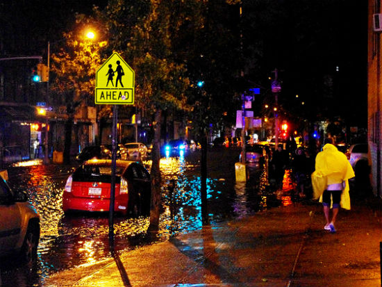 NYC flooding image by David Shankbone via Flickr