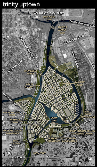 Verdunity has been driving Envision forward in Texas through projects such as Panther Island in Fort Worth. (Credit: Trinity River Vision Authority)