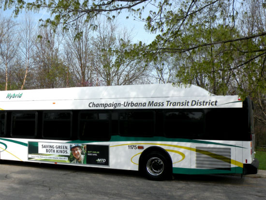 40-foot hybrid bus image courtesy of CUMTD