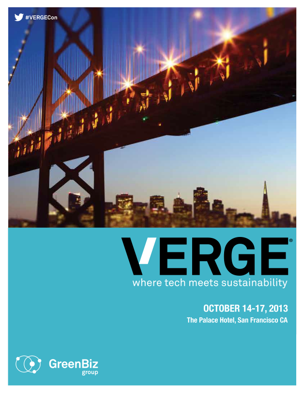 VERGE SF 13 Conference at a Glance