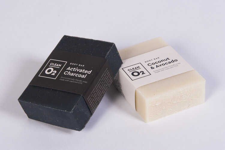 Soap made from sequestered carbon dioxide