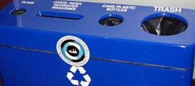 Basic blue recycling station