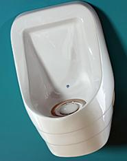 Urinal with Blue Shell