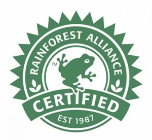 Rainforest alliance certification logo
