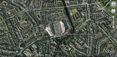 Dublin's Aviva Stadium under construction (via Google Earth)