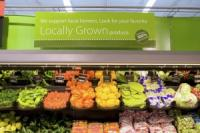 Locally-grown produce at Walmart