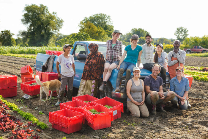The Digger's Mirth Collective Farm team. (Photo courtesy of The Intervale Center)