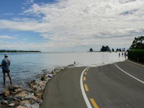 An example of sea level rise in Monaco, New Zealand