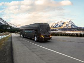 MCI's J4500 Charge Hero electric commuter bus