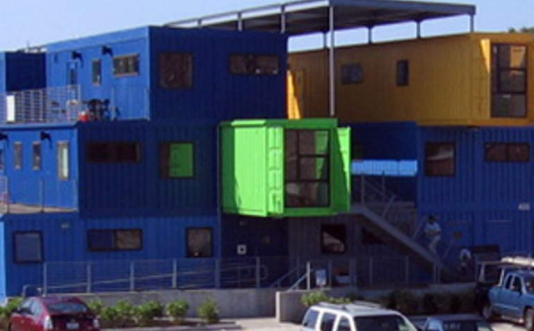 Office Made Of Shipping Containers A Cheap Green Building Solution |  GreenBiz