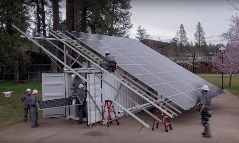 Box Power, microgrid, shipping container, solar