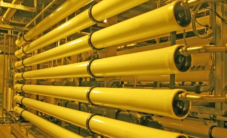 Reverse osmosis pipes