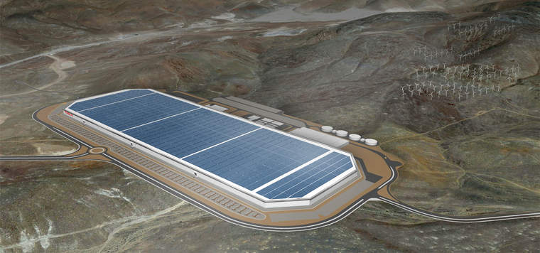 Tesla Motors Inc renewable energy battery Gigafactory