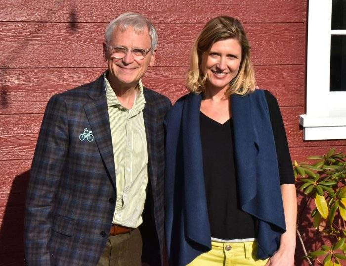 Rep. Earl Blumenauer and Natalie Reitman-White of The Organically Grown Company.